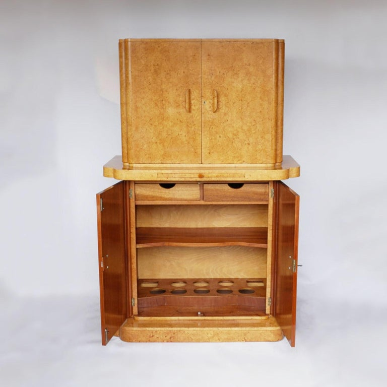 Art Deco Cocktail Cabinet by Harry & Lou Epstein English, Circa 1930 For Sale 4