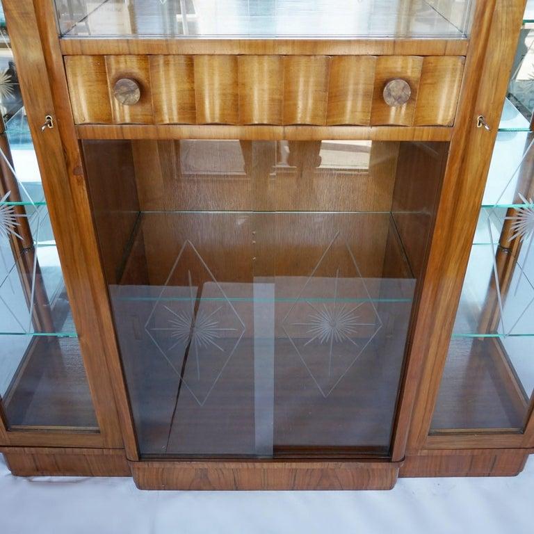Mid-20th Century Art Deco Display Cabinet English, Circa 1935 For Sale