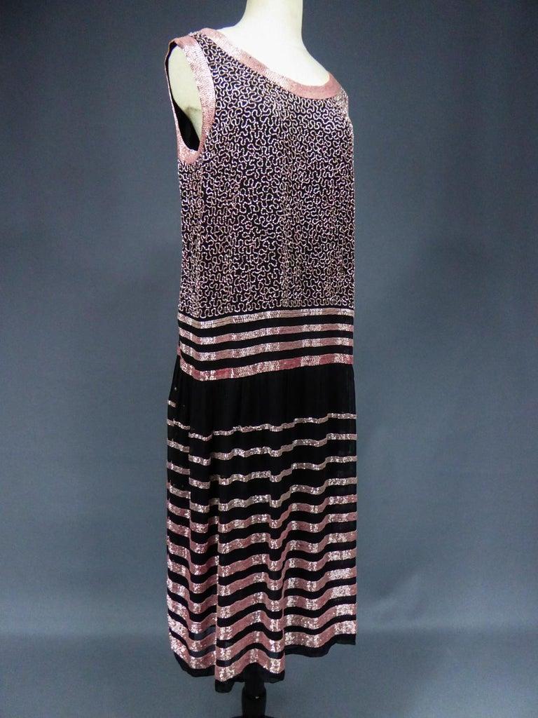 An Art Deco Flapper Dress for Ball Paris Circa 1927 For Sale 7