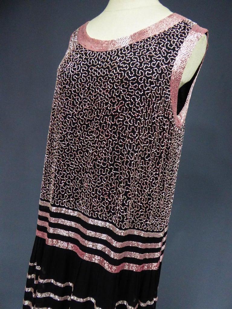 An Art Deco Flapper Dress for Ball Paris Circa 1927 For Sale 10