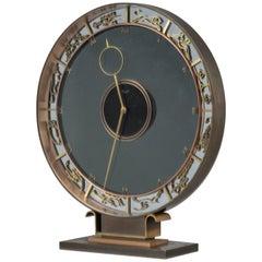 Art Deco Kienzly Zodiac Mantel Mystery Clock, circa 1935. Heinrich Möller