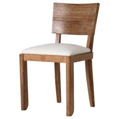 Art Deco Limed Oak Chair by Suzanne Guiguichon