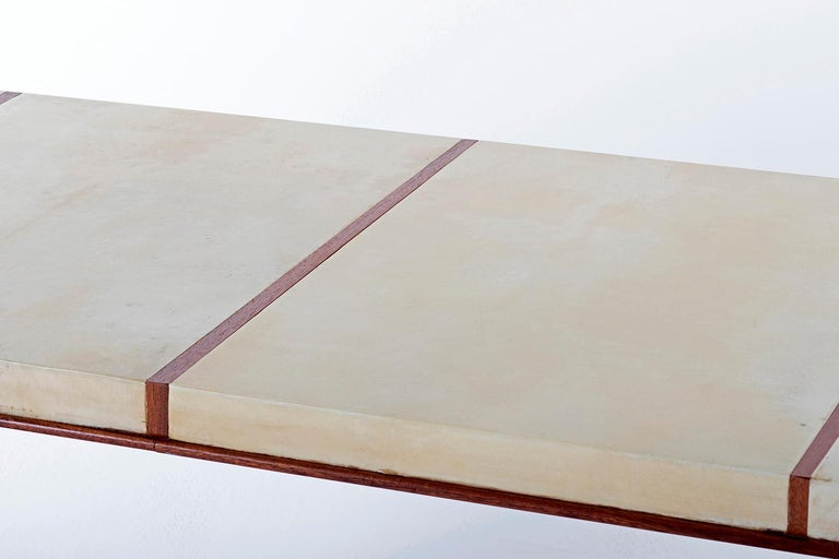 Art Deco Mahohany and Velum Console Table, by Gauthier-Poinsignon 5