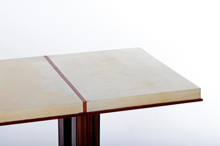 Art Deco Mahohany and Velum Console Table, by Gauthier-Poinsignon 6