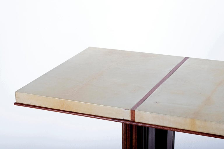 Art Deco Mahohany and Velum Console Table, by Gauthier-Poinsignon 7