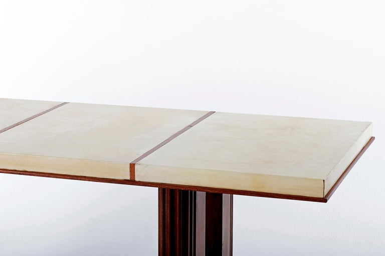 Art Deco Mahohany and Velum Console Table, by Gauthier-Poinsignon 3