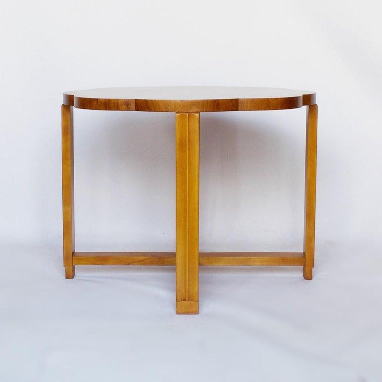 Art Deco Nest of Tables by Harry & Lou Epstein Burr Walnut, circa 1930 For Sale 1