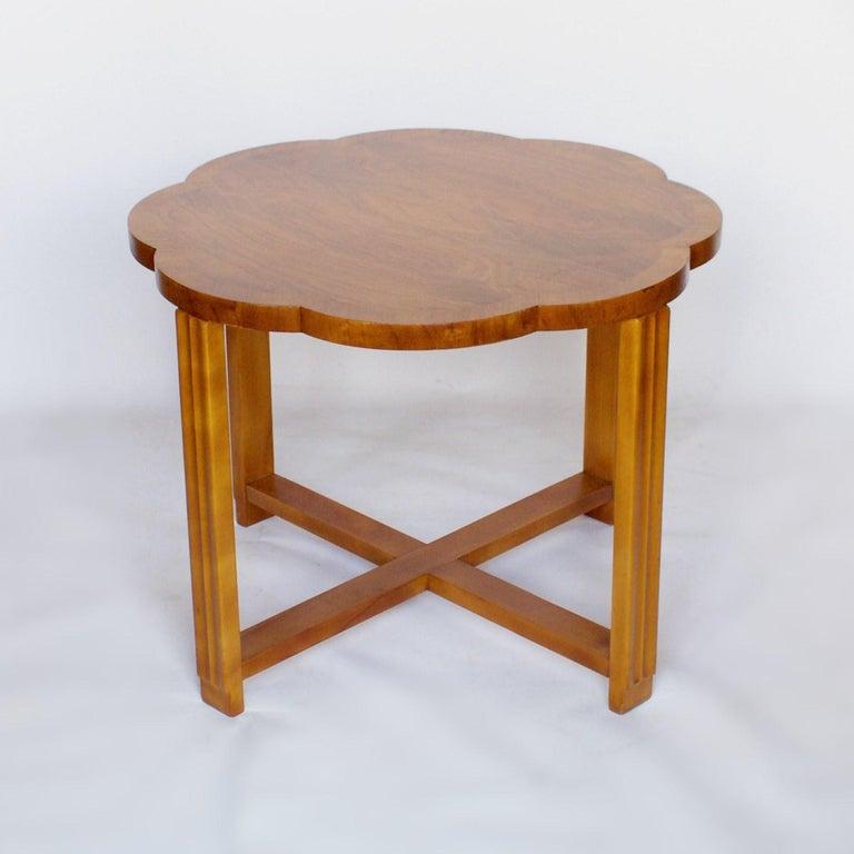 Art Deco Nest of Tables by Harry & Lou Epstein Burr Walnut, circa 1930 For Sale 2