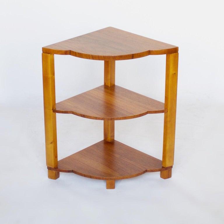Art Deco Nest of Tables by Harry & Lou Epstein Burr Walnut, circa 1930 For Sale 4