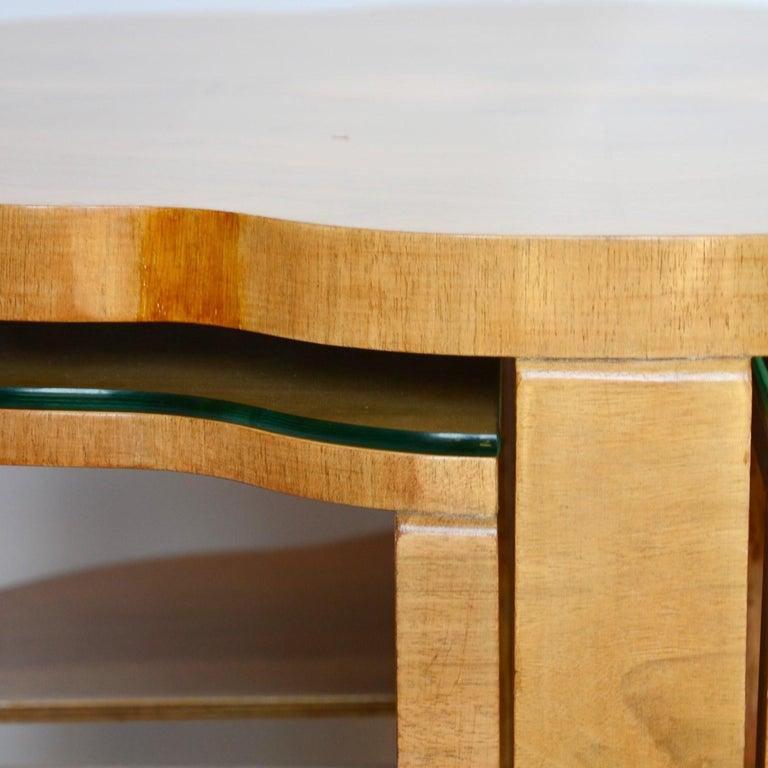 Walnut Art Deco Nest of Tables by Harry & Lou Epstein, circa 1930