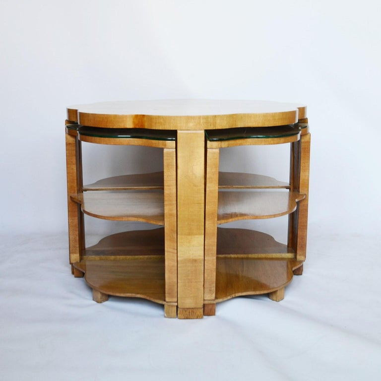 Art Deco Nest of Tables by Harry & Lou Epstein, circa 1930 1