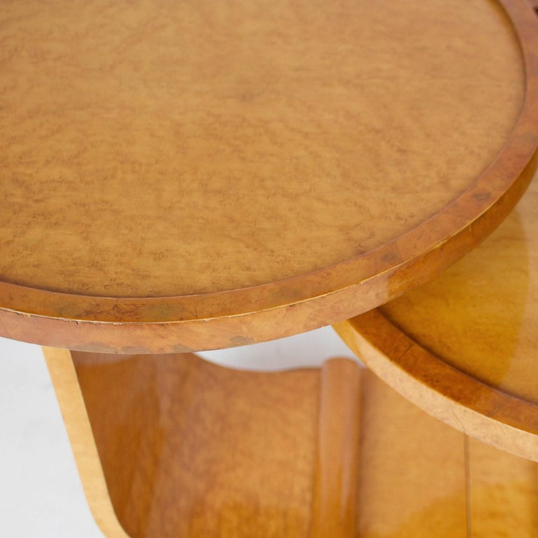 Art Deco Nest of Tables by Hille, Bird's-Eye Maple and Walnut, circa 1930 In Good Condition In Forest Row, East Sussex