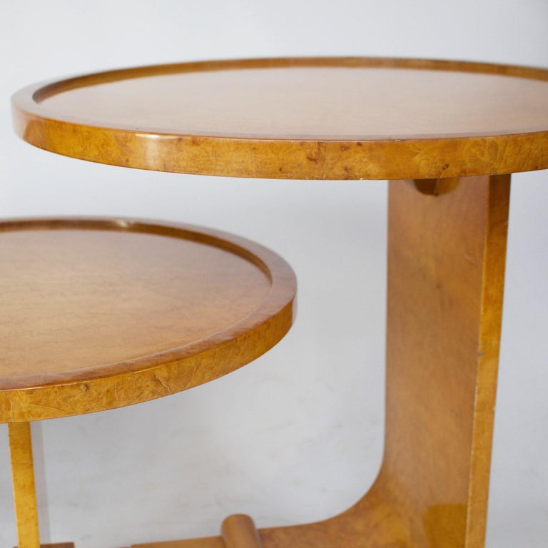 Mid-20th Century Art Deco Nest of Tables by Hille, Bird's-Eye Maple and Walnut, circa 1930