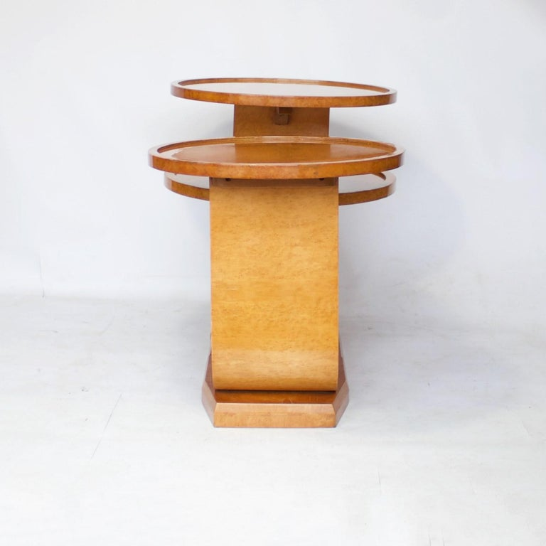 Art Deco Nest of Tables by Hille, Bird's-Eye Maple and Walnut, circa 1930 1
