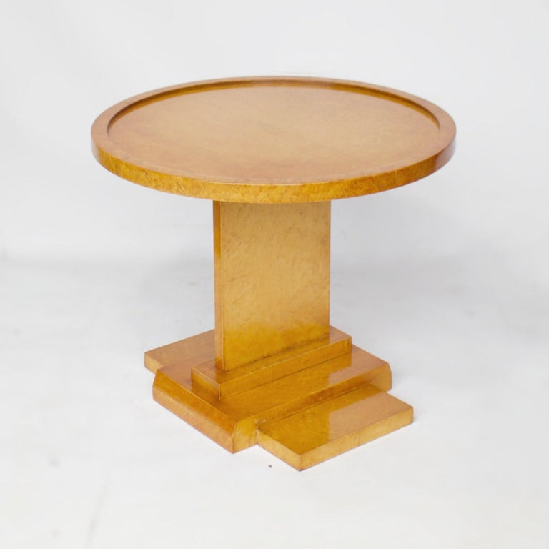 Art Deco Nest of Tables by Hille, Bird's-Eye Maple and Walnut, circa 1930 2