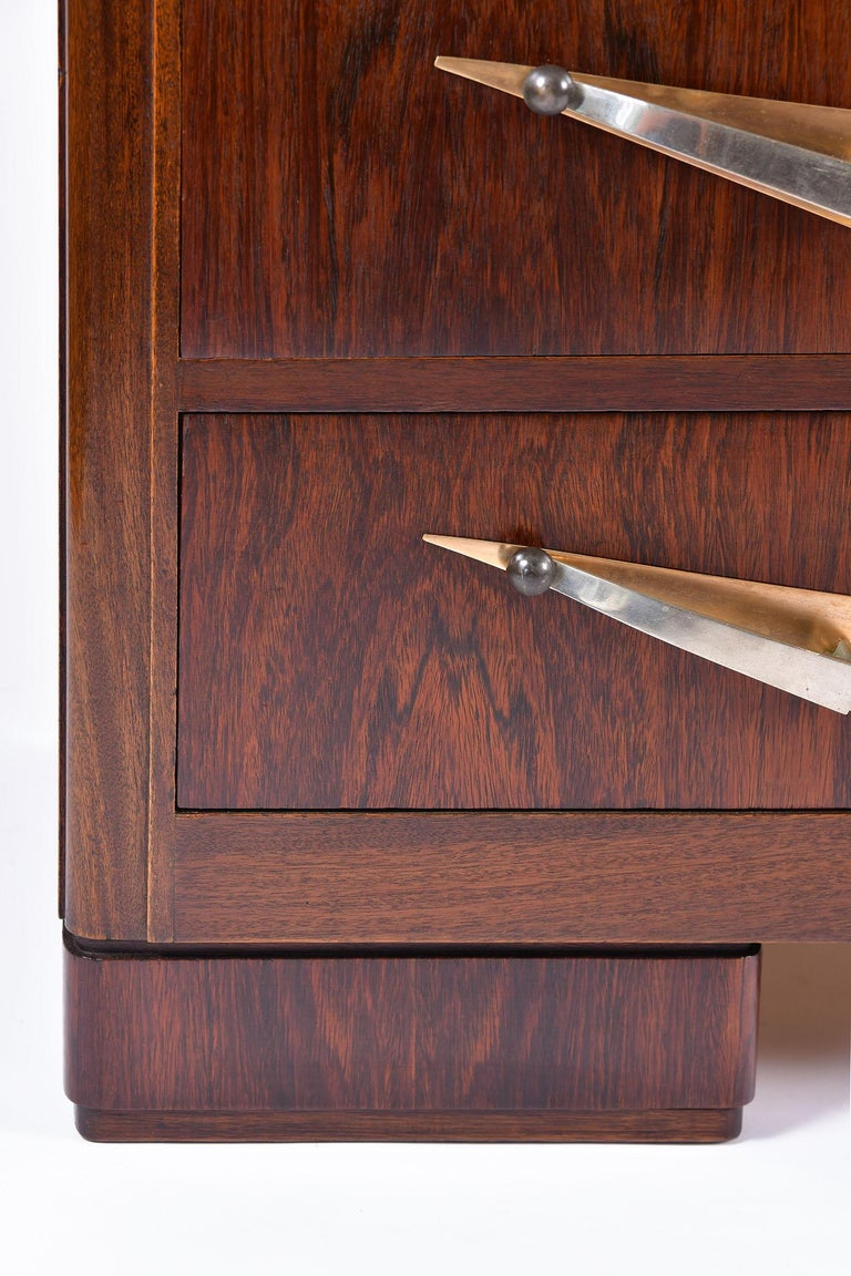 Art Deco Rosewood and Portoro Marble-Top Chest of Drawers 3