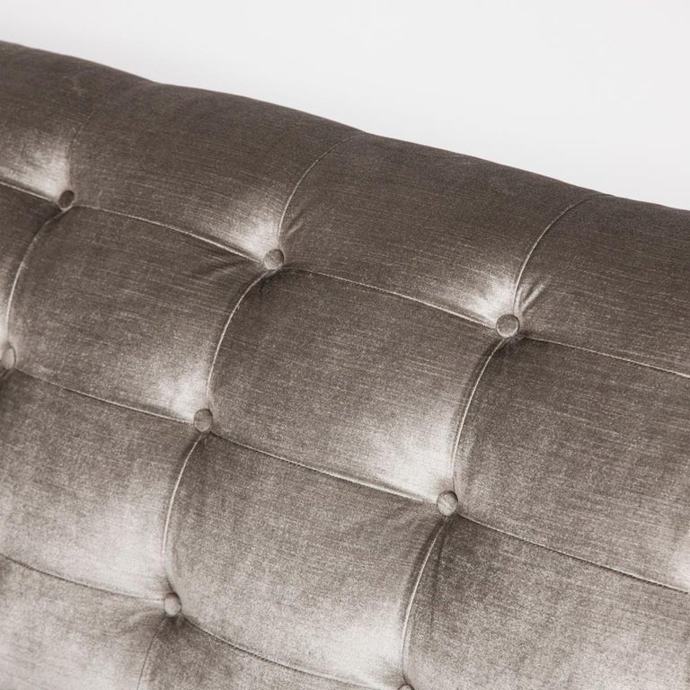 Art Deco Satin Birch Sofa with Fluted Arms & Paw Feet For Sale 1
