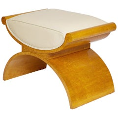 Art Deco Stool by Harry & Lou Epstein, circa 1930