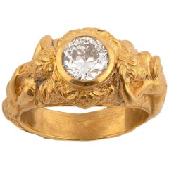 Art Nouveau Diamond Ring, circa 1920