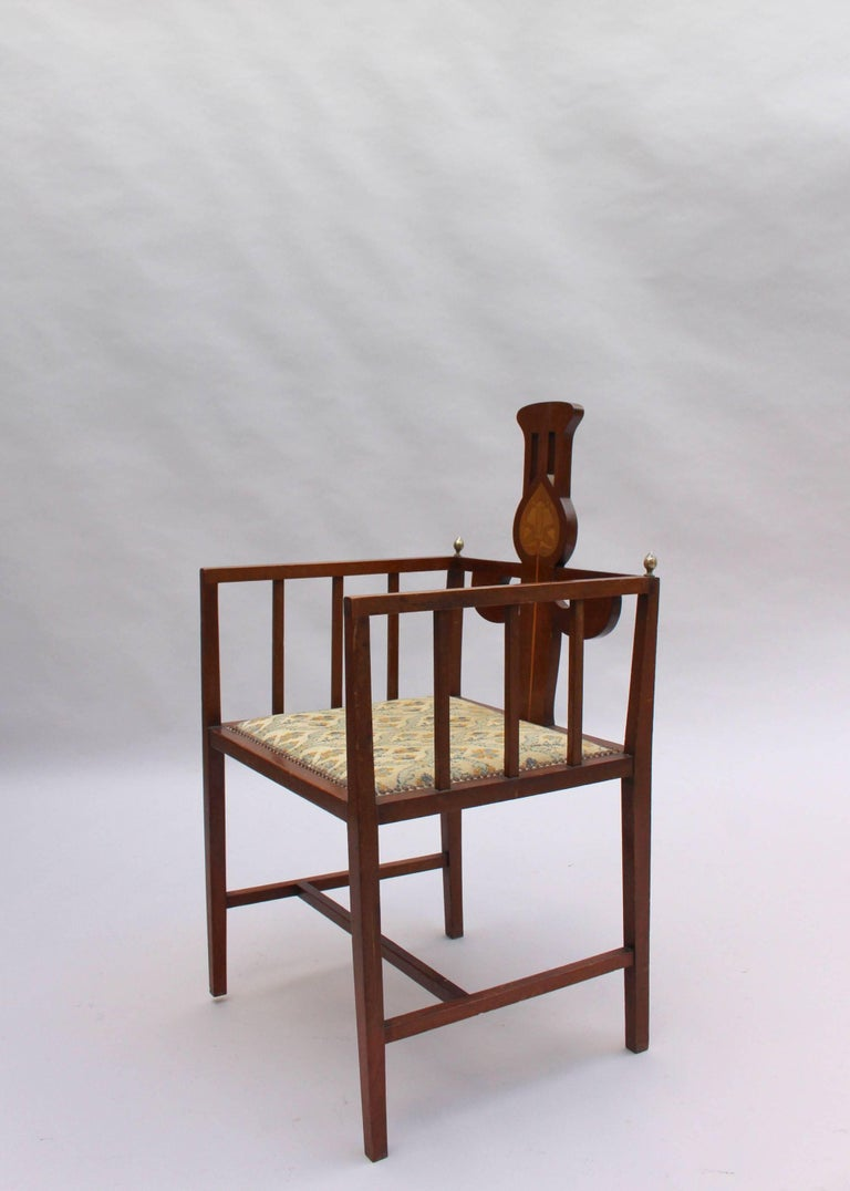 Fine Arts & Crafts Armchair by G M Ellwood, Made by J S Henry In Good Condition For Sale In Long Island City, NY