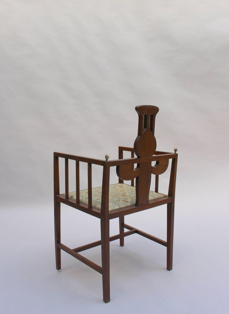 Wood Fine Arts & Crafts Armchair by G M Ellwood, Made by J S Henry For Sale