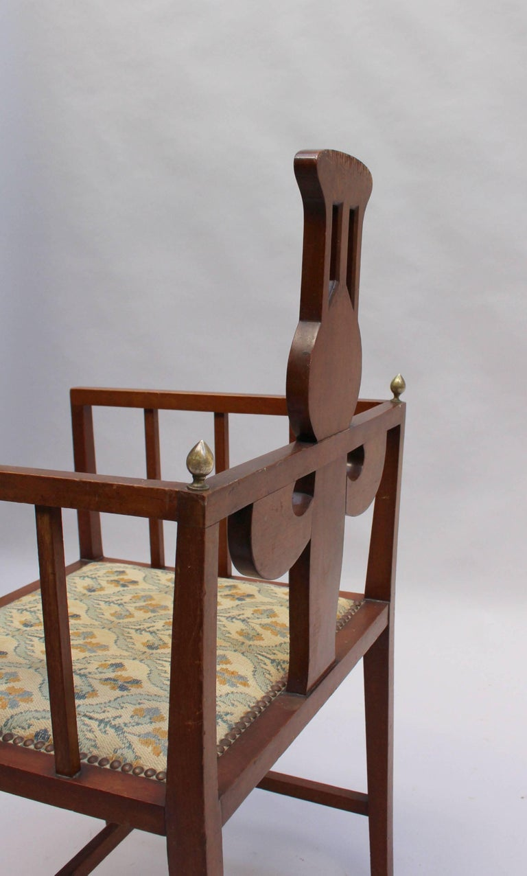 Fine Arts & Crafts Armchair by G M Ellwood, Made by J S Henry For Sale 1