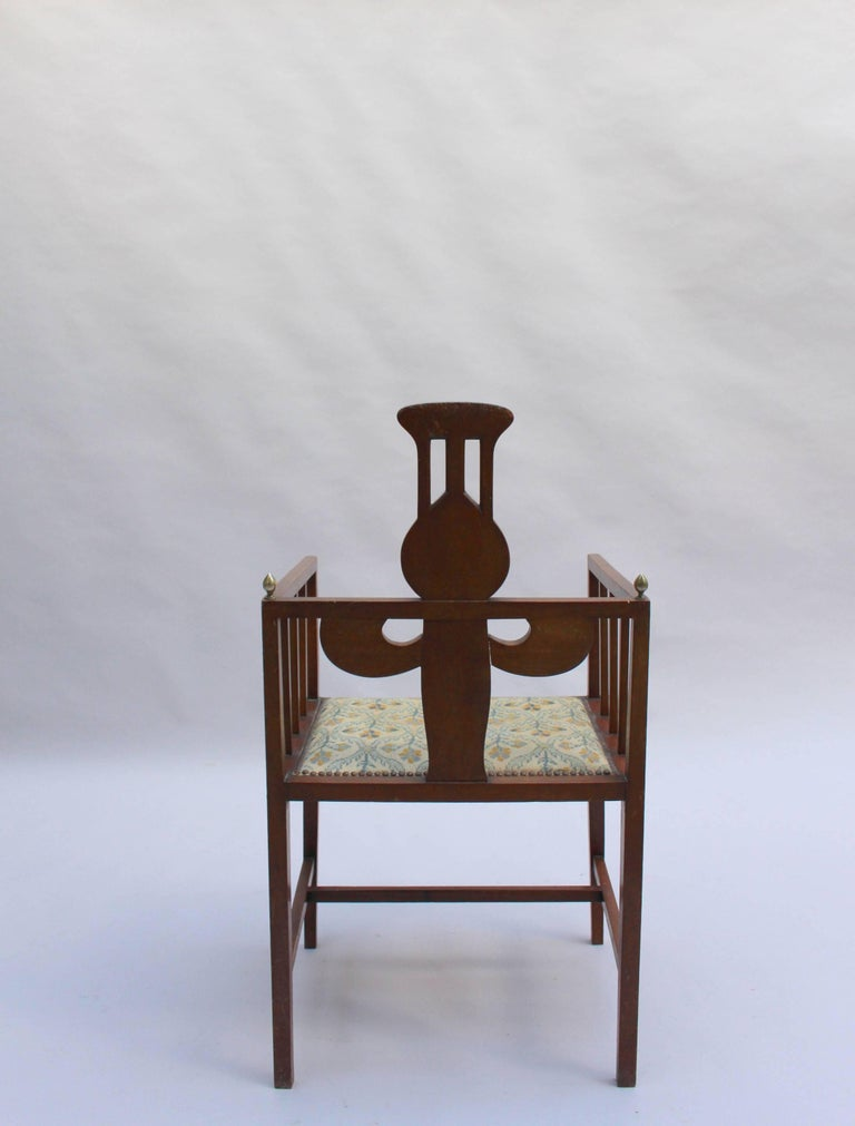 Fine Arts & Crafts Armchair by G M Ellwood, Made by J S Henry For Sale 3