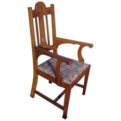 Arts & Crafts Oak Armchair by Goodall, Lambs & Heighway of Manchester