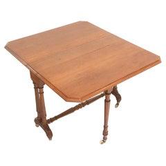 Arts & Crafts Oak Sutherland Drop Leaf Dining Table
