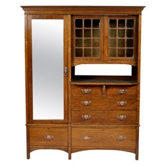 Arts & Crafts Oak Wardrobe Purchased from Liberty & Co. London