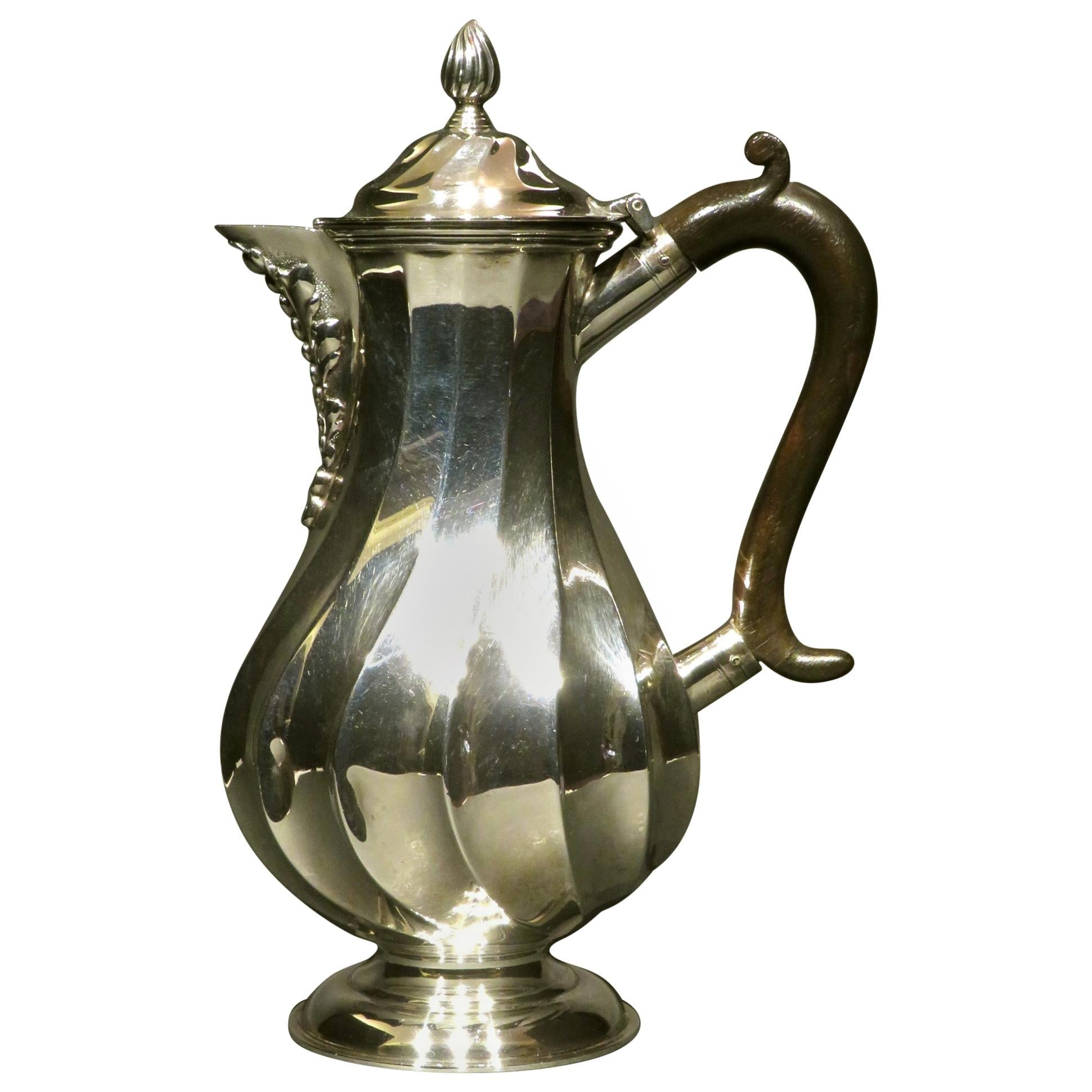 Arts & Crafts Period Sterling Silver Hot Water / Hot Milk Pot, London 1897