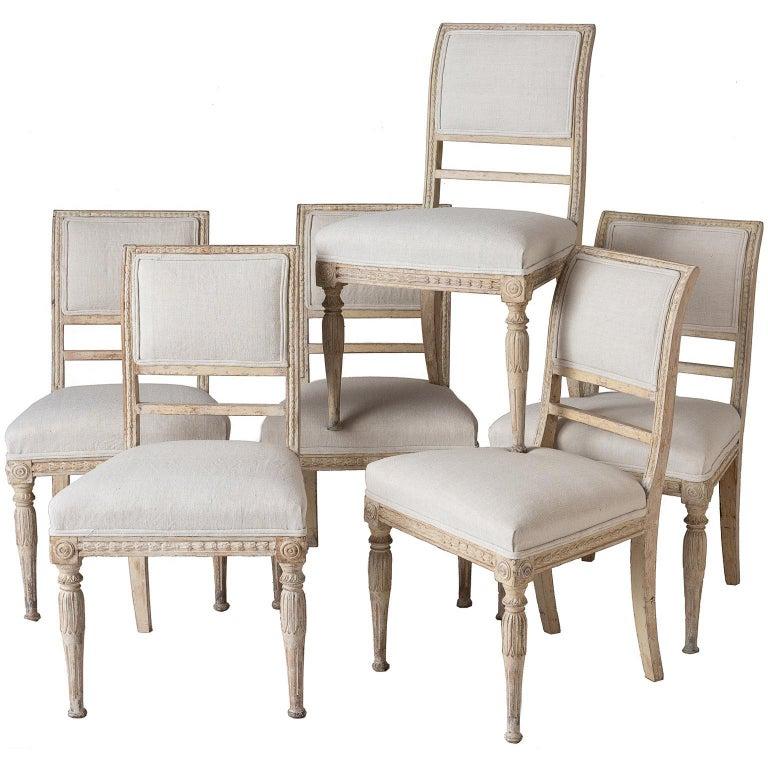 An Assembled Set Of Six Swedish Late Gustavian Stockholm
