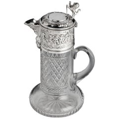 Attractive Early 20th Century Silver Topped Claret Jug
