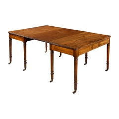 Attractive George III Mahogany Dining Table / Pair of Pier Tables