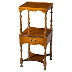 Attractive Late 19th Century Mahogany Two-Tiered Nightstand