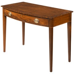 Attractive Late George III Period Mahogany Bow, Fronted Side Table