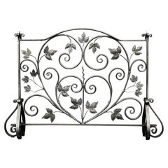 Attractive Wrought Iron Fire Screen
