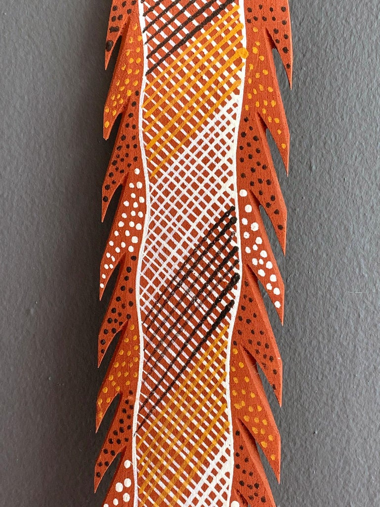 Australian Aboriginal Carved and Pained Spear from Melville Island In Good Condition For Sale In North Miami, FL