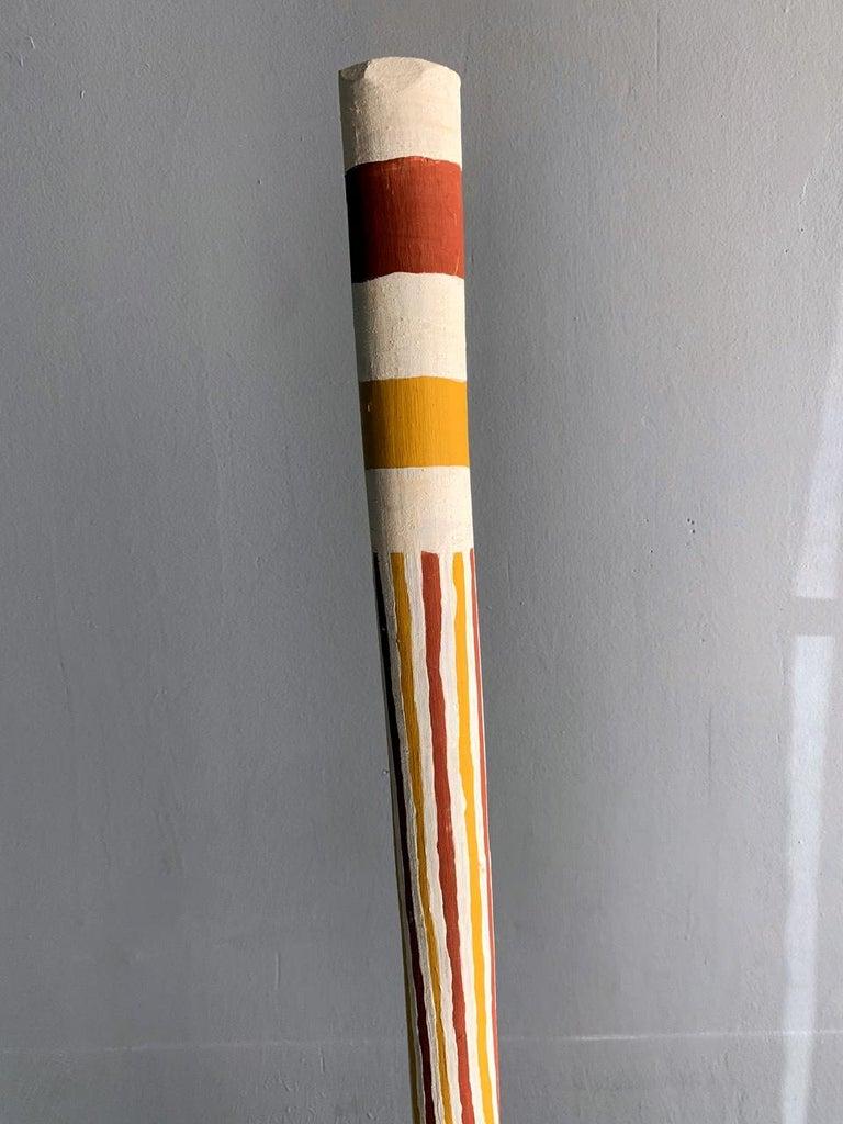 Folk Art Australian Aboriginal Painted TOTEM Pole from Elcho Island For Sale