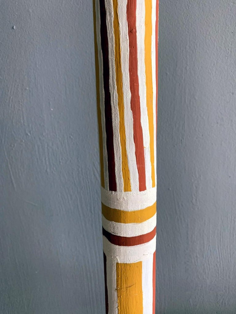 Australian Aboriginal Painted TOTEM Pole from Elcho Island In Good Condition For Sale In North Miami, FL