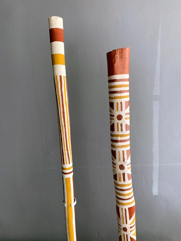 Australian Aboriginal Painted TOTEM Pole from Elcho Island For Sale 1