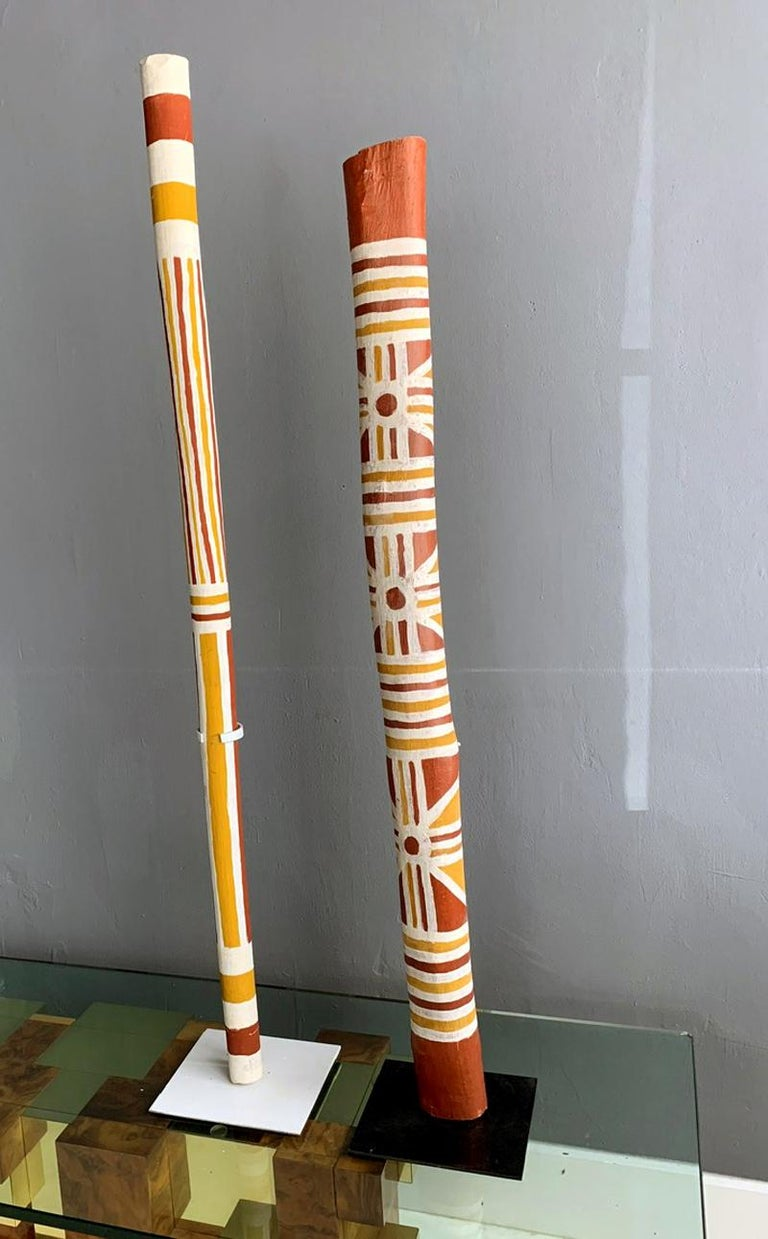 Australian Aboriginal Painted TOTEM Pole from Elcho Island For Sale 2