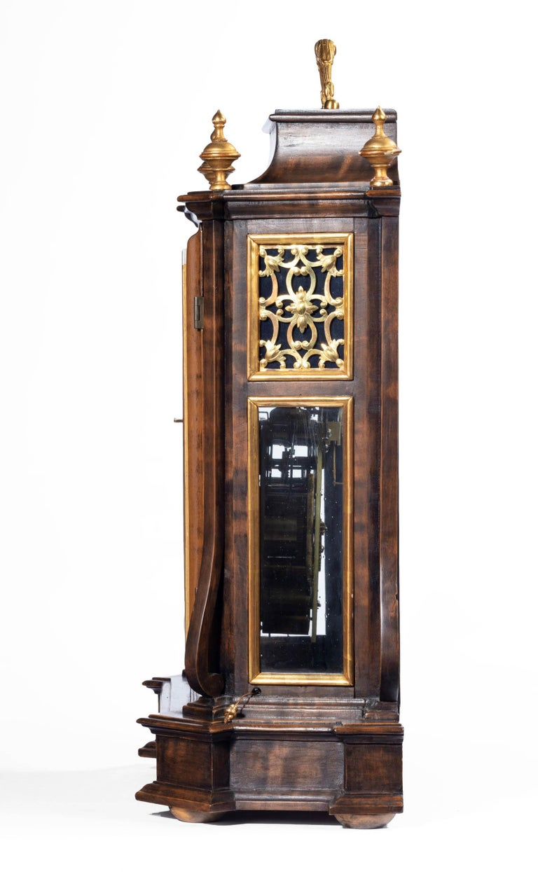 An Austrian Barque bracket clock dating from the first half of the 18th century with quarter chiming and Grand Sonnerie pull repeat and alarm The dial of this clock is signed Johann Michael Sailer, Bozen. Bozen being the old name for Bolzano, Italy