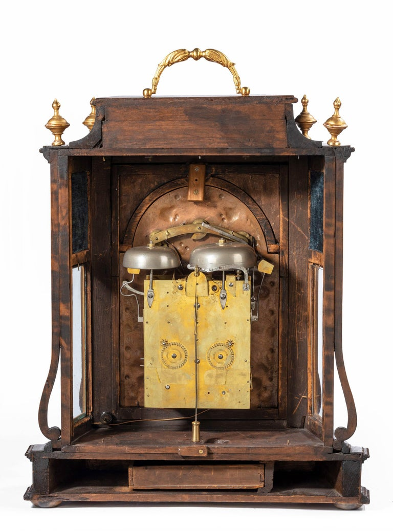 Early 18th Century Austrian 18th Century Barque Bracket Clock Grand Sonnerie For Sale