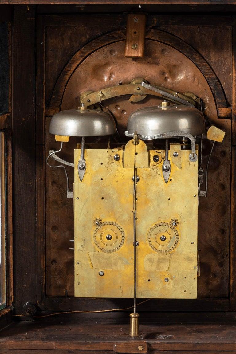 Walnut Austrian 18th Century Barque Bracket Clock Grand Sonnerie For Sale