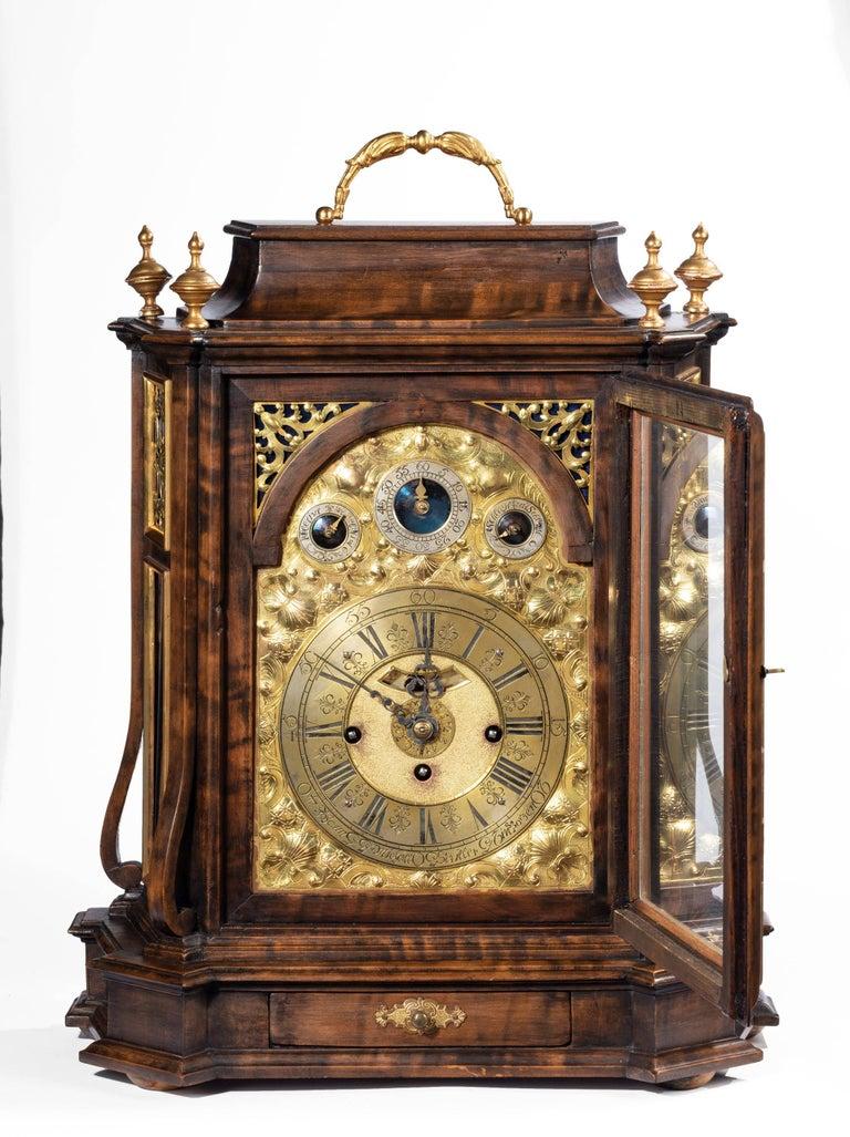 Austrian 18th Century Barque Bracket Clock Grand Sonnerie For Sale 1