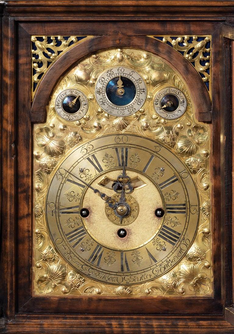 Austrian 18th Century Barque Bracket Clock Grand Sonnerie For Sale 2