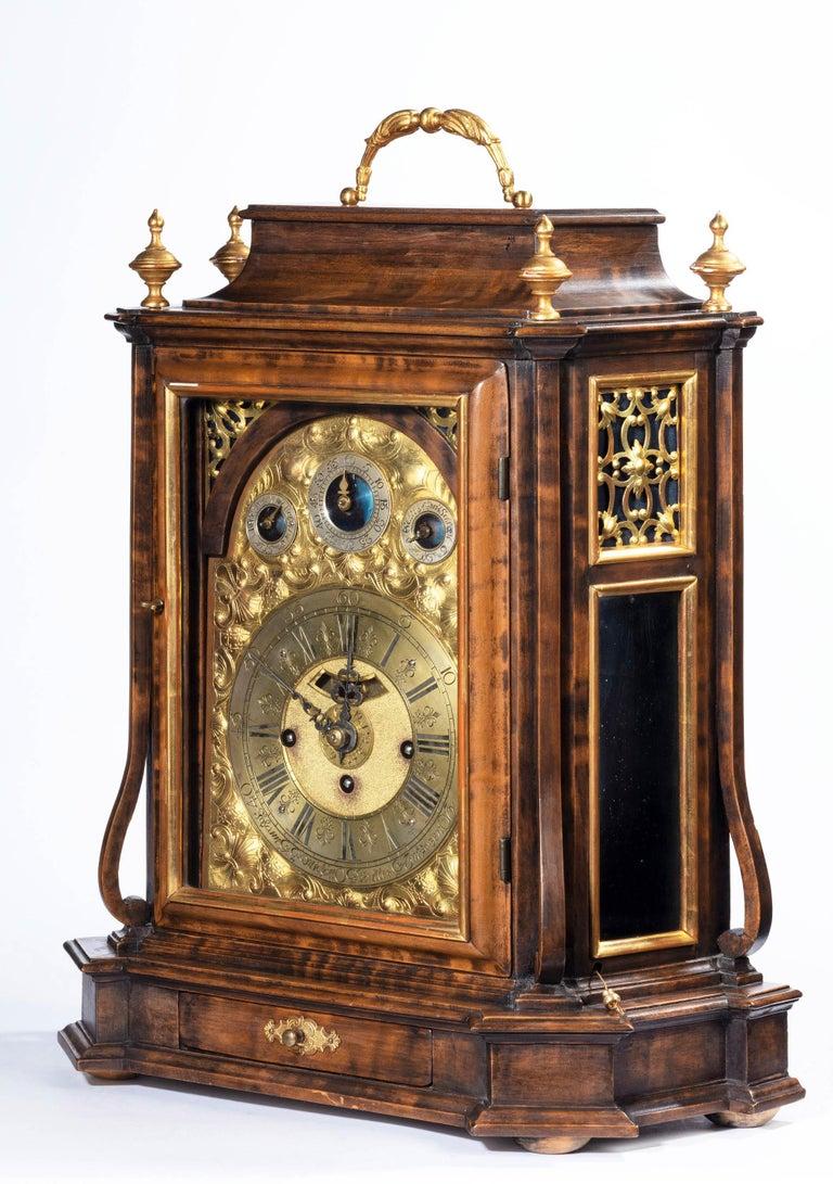 Austrian 18th Century Barque Bracket Clock Grand Sonnerie For Sale 3