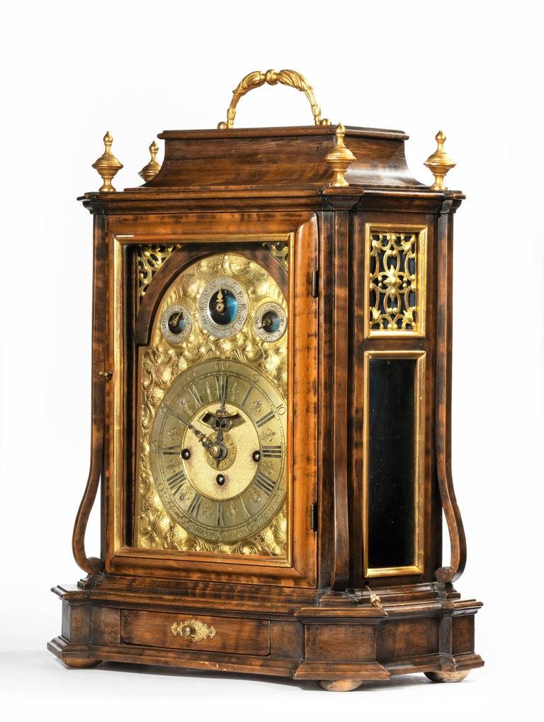 Austrian 18th Century Barque Bracket Clock Grand Sonnerie For Sale 4