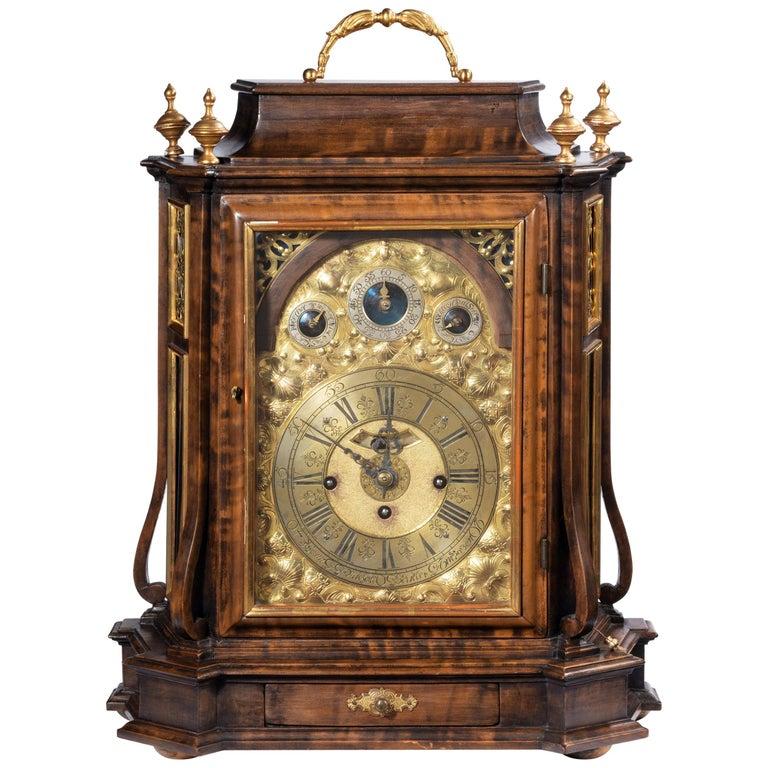Austrian 18th Century Barque Bracket Clock Grand Sonnerie For Sale